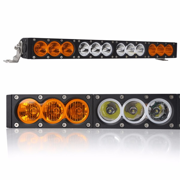 180w 33 Inch Car Light Bar Waterproof  Amber / White Color CE RoHS Certified