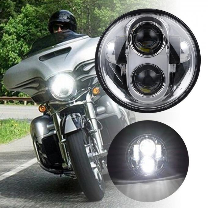 Waterproof Led Motorcycle Headlight For Harley Davidson 5.75 Inch Round Projector