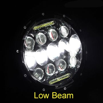 IP68 White 75W Jeep Wrangler Headlights 2pcs LED Daytime Running Light