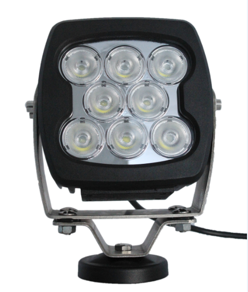 80W Heavy Duty Square Outdoor LED Flood Lights For Offraod Vehicle Boat