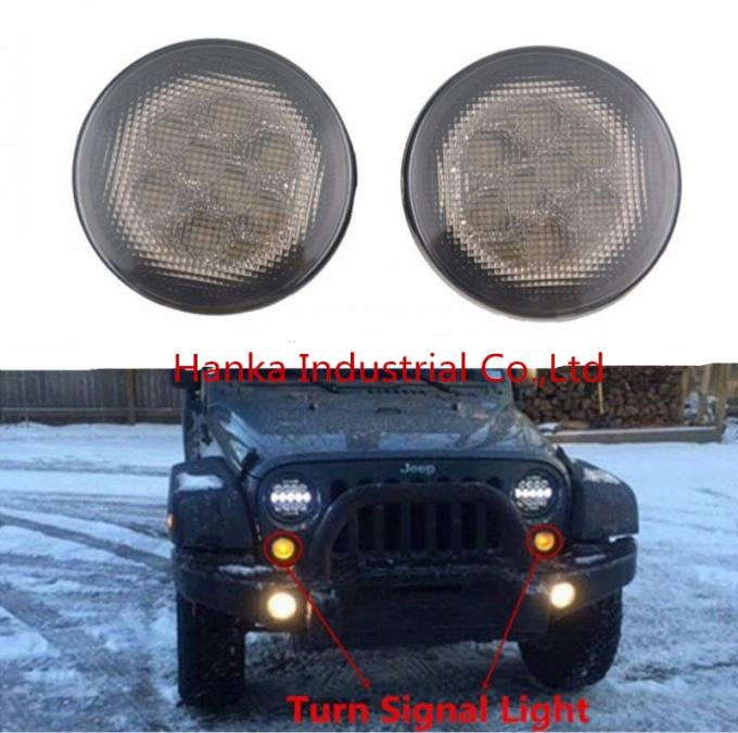 Yellow Front Jeep Wrangler Turn Signal Lens , Smoke Len Jeep Wrangler Tail Lights
