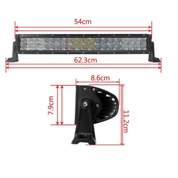 50 Inch RGB Car Light Bar With Bluetooth App 5D Projector Lens Combo Beam