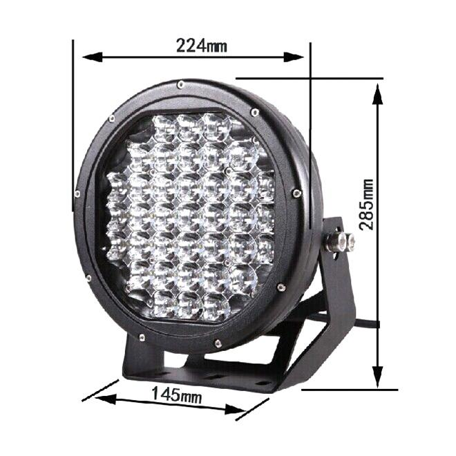 9 Inch Cree Chips Led Car Work Light With 185 Watt Super Bright Lamp