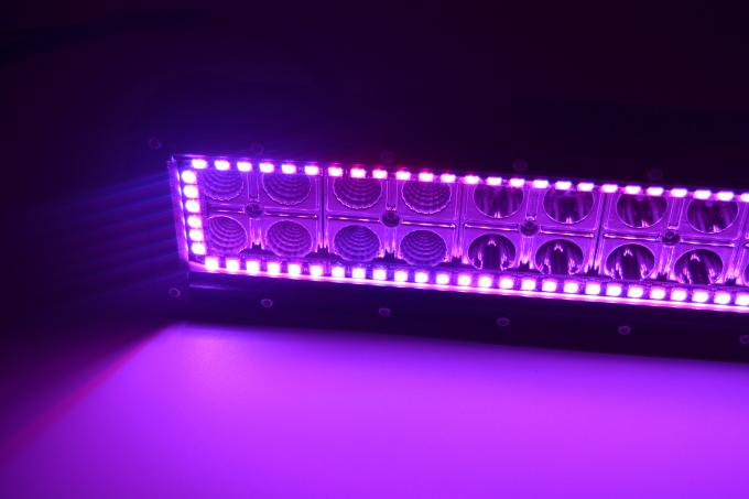 High Intensity Cree 31.5 Inches Tracing Halo RGB Off Road LED Light Bar With RF Controller 180 Watt