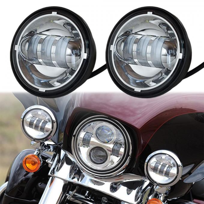 4.5 Inch Harley Davidson 1800lm 30w Vehicle LED fog light With Aluminum Material Housing