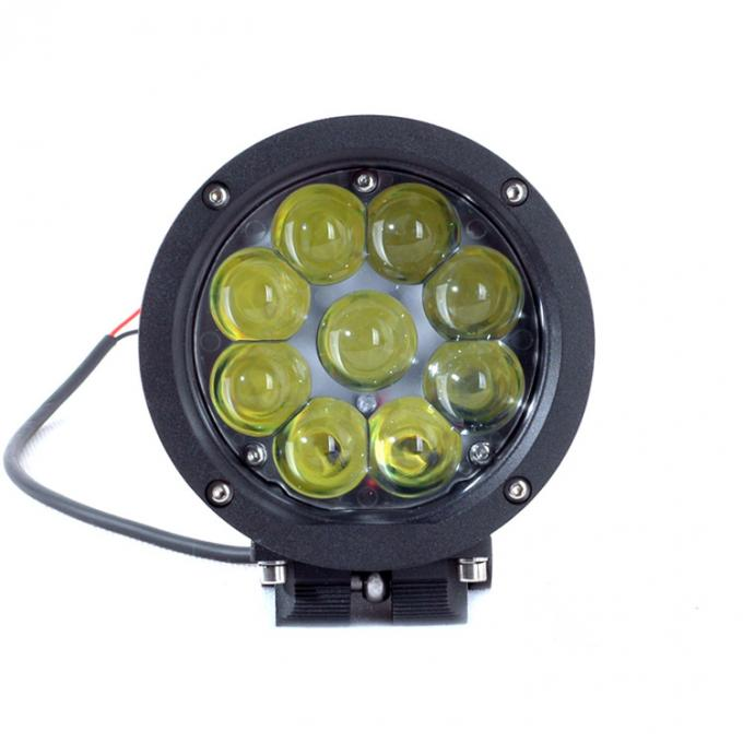 Black Color Spot / Flood Beam LED Vehicle Work Light with 5.5 Inch 45w 12v High Intensity CREE Chips