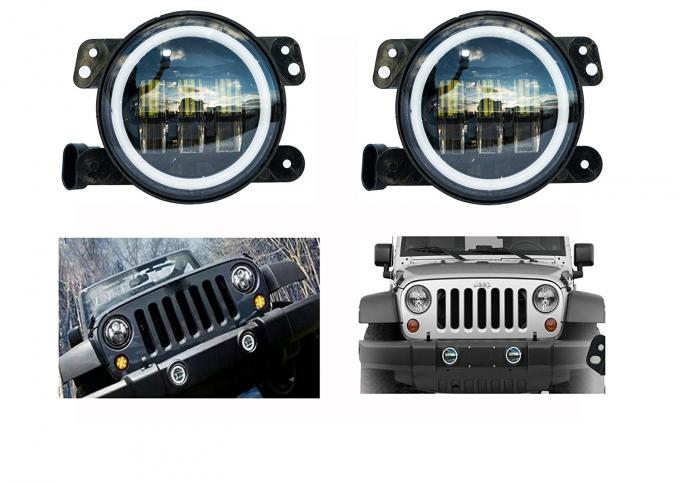 4 Inch Day Running Jeep Car LED Fog Lights 6500K DOT SAE Approved
