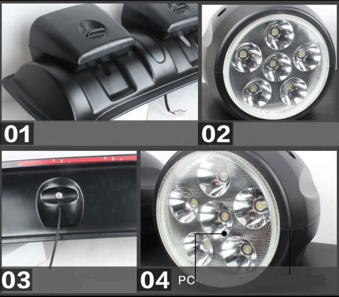 Jeep Halo Lights >> 120W LED Roof Mounted Spotlight with 4 Lights , Off Road ...