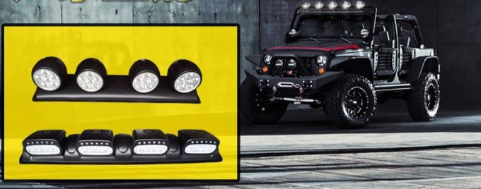 120W LED Roof Mounted Spotlight with 4 Lights , Off Road 4x4 Roof 4 Clear Fog Light Setup