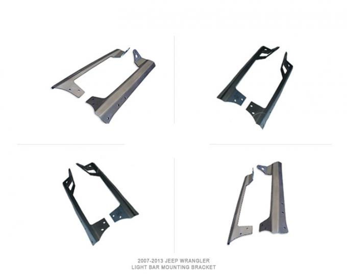 Steel Universal Car 50 Inch Mounting Brackets For Led Light Bar