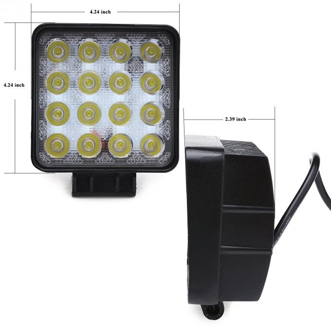 48W LED work light with EMC function square LED light for off road vehicles ATV UTV trucks tractor