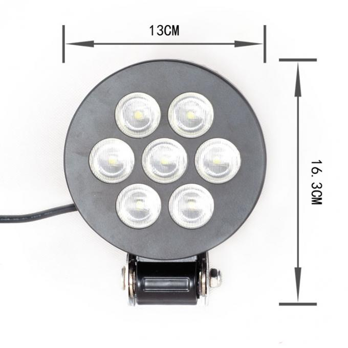 5 inch 21W round black LED work light with 7pcs*3w high intensity LEDS for Off road vehicle