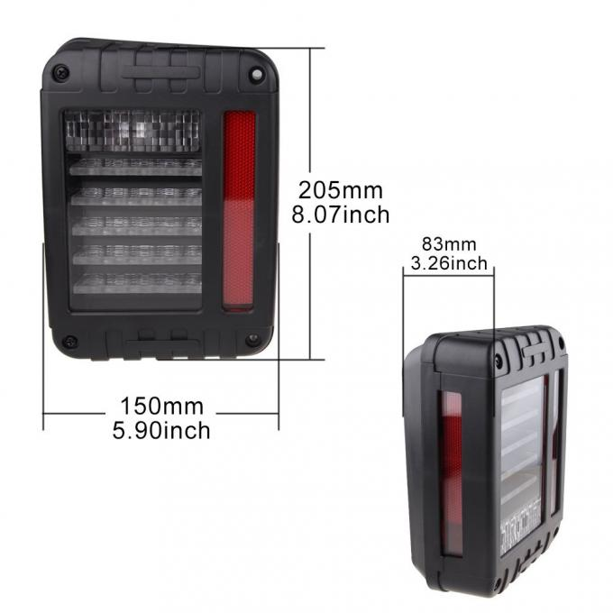 LED Jeep Tail light  Rear Car Tail Lights Brake Turn Signal Reverse For Jeep Wrangler