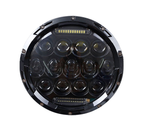 "7"" Hi Lo Beam 75w Led Jeep Headlights With Aluminum Die Cast Housing"