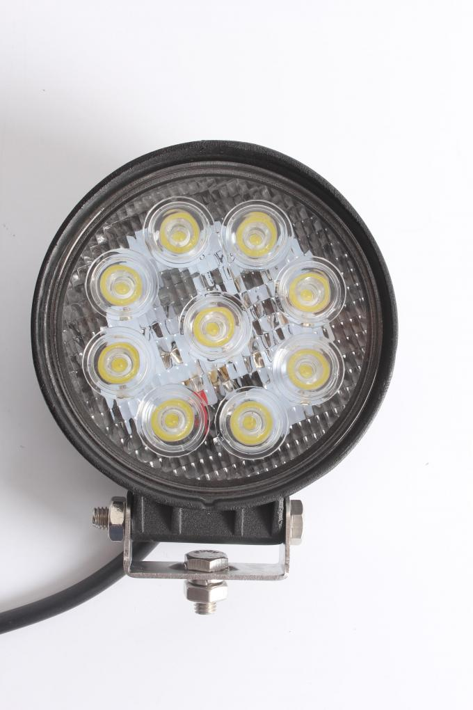 27W led work light with Flood/Spot beam, 5.1 inch with 1800 lumens for off-road vehicle, ATVS, truck, engineering