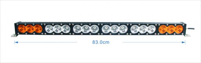180W single row LED Car Light Bar Waterproof  with Amber / White Color for Off road vehicle