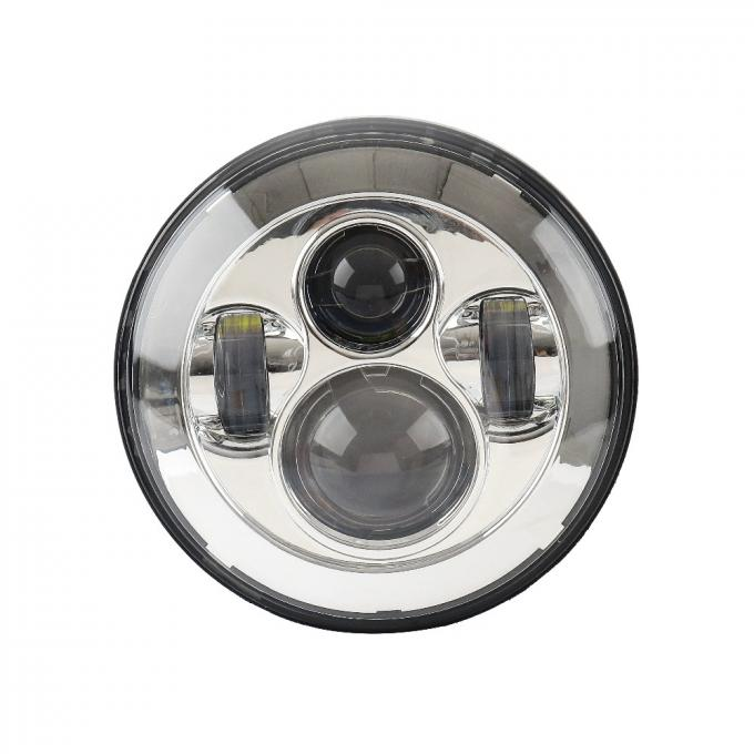 Black Frame Motorcycle Jeep Wrangler Headlights with High / Low Beam 6000K