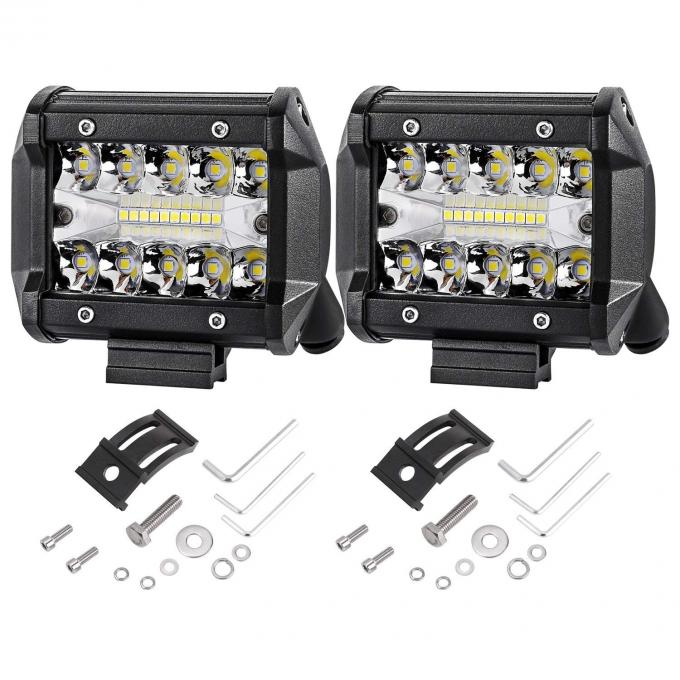 48 Watt LED Vehicle Work Light With High Intensity Epsitar LEDS 30 Degree Spot Beam