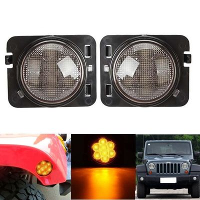 China Amber 2007-2017 Jeep Wrangler Smoked Turn Signals Clear Lens IP 68 Waterproof supplier