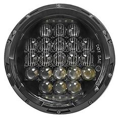 China 5D 7 Inch 105W White Jeep Wrangler Headlights Round Shaped IP 68 Waterproof supplier