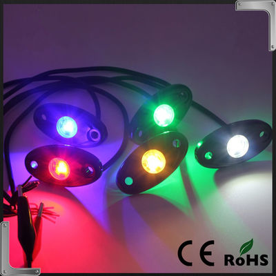 China RGB Bluetooth Control 9-32V DC Led Rock Light , IP68 Jeep Off Road Rock Lights supplier