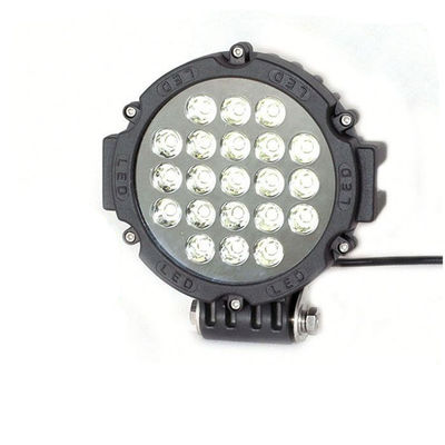 China 63W 7 Inch Led Driving Lights For Cars Flood /Spot Black Red Yellow Driving Led Work Lights supplier