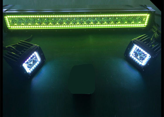 China 22 Inch Waterproof  Led Halo Light Bar , Muti Color Color Changing Led Light Bar supplier