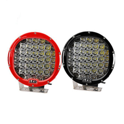 China 185W 9 Inch Led Car Spotlights IP 68 Round Led Spot Light Fixtures For Optional Color Black, Red, Bule, Yellow supplier