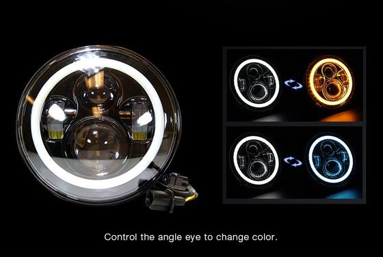 China RGB 7 Inch Halo Car Lights 70W Super Bright  Angel Eyes IP68 Waterproof supplier