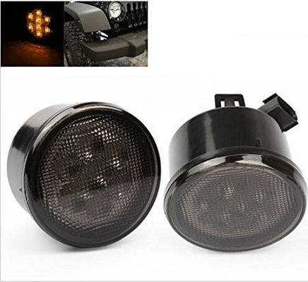 China Yellow Front Jeep Wrangler Turn Signal Lens , Smoke Len Jeep Wrangler Tail Lights supplier