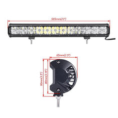 China Factory direct price DRL 144W 7D lens 25.6inch wholesale led light bar 12960lm with bottom bracket supplier