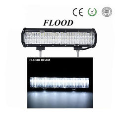 "China New Model Ford Auto Parts Jeep Amber Light Bars 7D 22"" 120W Flood Car LED Light Bar supplier"