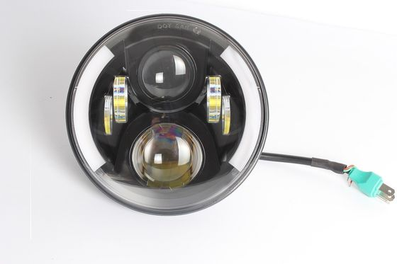 China 7 Inch 80w Jeep Wrangler Headlights 1600LM * 2 Low Beam 3150 LM * 2 High Beam supplier