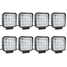 China 48W Flood LED Vehicle Work Light Square Off-Road Bulb Lamp For Jeep Cabin Boat SUV Truck Car ATVs supplier