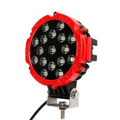 "China 51W 7"" Red Flood Round LED Work Light Off-road Fog Driving Roof Bumper for SUV Boat Jeep Lamp supplier"
