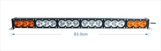 China Single Row 32.5 Inch 180W Car Led Light Bar 4x4 offroad Led Light Bar Amber White Dual Color Offroad Lights supplier
