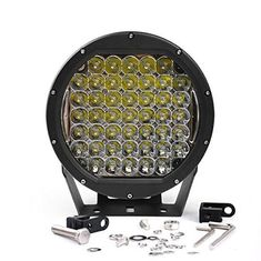 China 10 Inch Round 225W Intensity Led Spot Light For offroad 4x4 JEEP FORD TOYOTA Pickup Light Bar Driving Headlight Green supplier