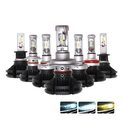China Hot sale h4 h7 car led headlight X3 50W ZES 2nd G light source 9005 9006 led head light supplier