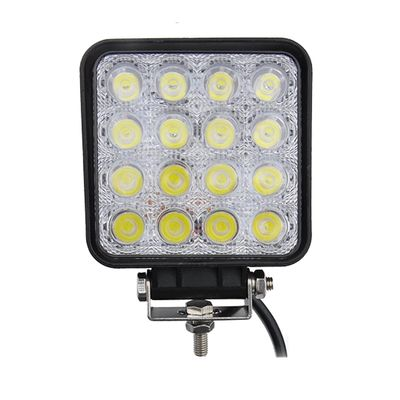 China 48W LED work light with EMC function square LED light for off road vehicles ATV UTV trucks tractor supplier