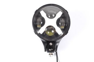 China 6 inch 60W Round LED Auxiliary Light, Work Light X Fog Spot Light DRL Turn Signal Reverse Offroad supplier
