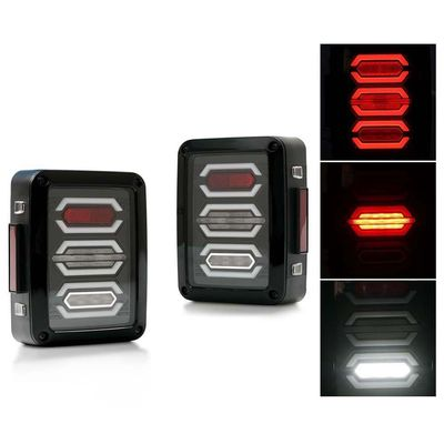 China Jeep Smoked LED Tail Lights / Reverse Daytime Running Lamps ABS + PC Material supplier