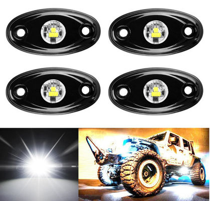 China 4 Pcs Offroad Rgb Rock Light For Jeep Bluetooth Control 9w Multicolor 6000K supplier
