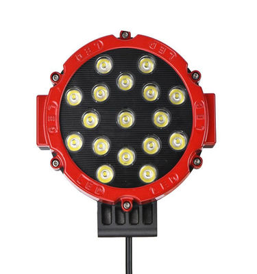 China New Round led work lamp 12V 24V 3800lm 51W Red 7inch led work light for Truck, offroad vehicle 4x4 supplier