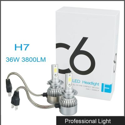 China New 360° Viewing Angle LED H7 Headlight 36W C6 Lighting Bulb IP67 Waterproof for Jeep supplier