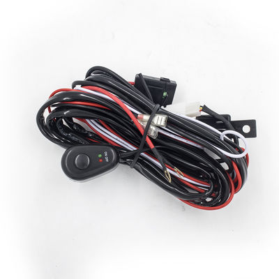 China 2.5 Meter Automotive LED light bar Wiring Harness with Connector Remote Controller Switch Control for car supplier