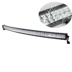 China 52'' 288W 25920lm 5D Curved LED Light Bar Black Color Housing Water Resistant supplier