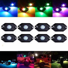 China LED RGB Rock Light For Trucks Multi Color Bluetooth Control Under Car LED Underbody Lights Underglow Lights Accessories supplier