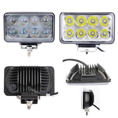 China 5x6 6 Inch 24W LED Work Light Square Spot/Flood for Off Road Vehicle Motorcycle Truck 12V 24V supplier