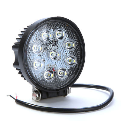 China 27W Epistar Chip 1800LM LED Vehicle Work Light Flood / Spot Beam for Off - Road Truck supplier
