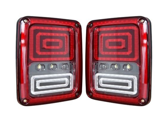 China ABS Material Car Turn Signal Lights / Jeep Wrangler Tail Lights With USA And Euro Plug supplier